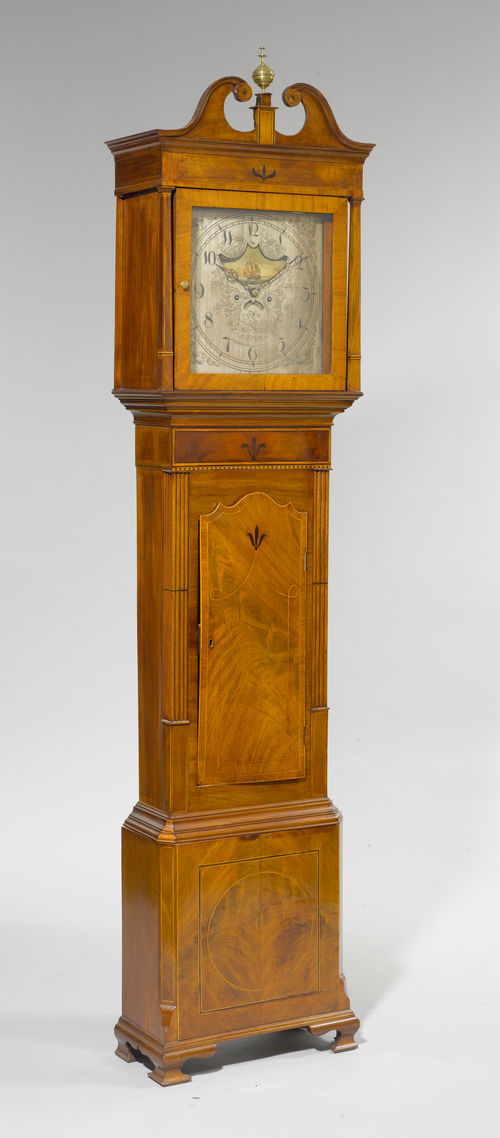 GRANDFATHER'S CLOCK WITH MOON PHASE AND DATE,