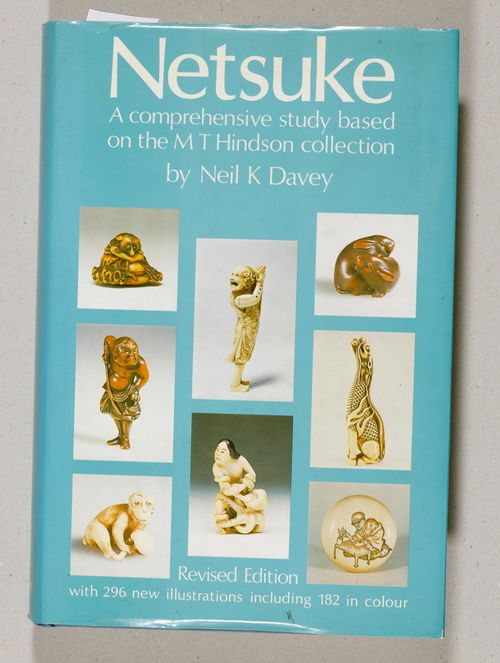 "Neil K. Davey: ""Netsuke. A comprehensive study based on the M.T. Hindson Collection."" Revised edition with 296 new illustrations of which 182 are in full colour. Sotheby Publications, London, 1982."