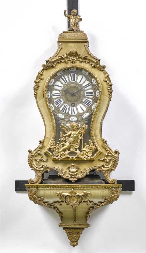 "MANTEL CLOCK ""PENDULE D'ALCOVE"" WITH ALARM ON BASE,"