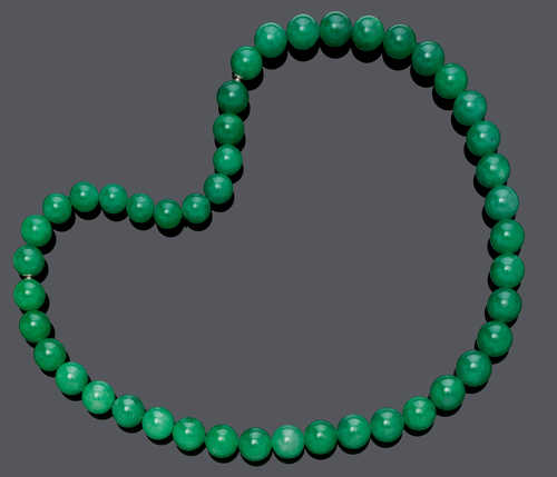 JADEITE NECKLACE, BY MAJO FRUITHOF.