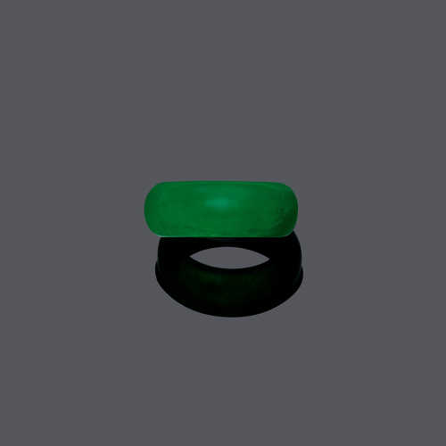 THREE JADEITE RINGS.
