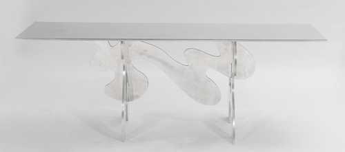 Guy de rougement 1935 table en aluminium poli miroir pi - Aluminium poli miroir ...
