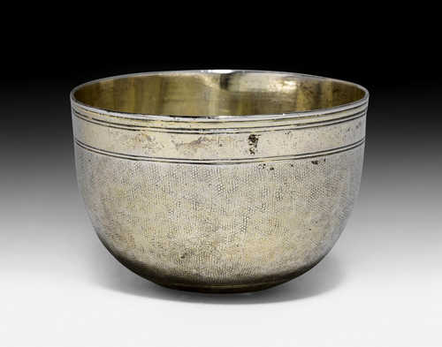 SILVER-GILT SNAKESKIN PALM CUP,