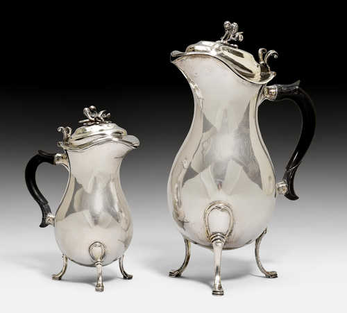 LARGE AND SMALL WINE JUG,