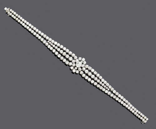 DIAMOND BRACELET, ca. 1950.