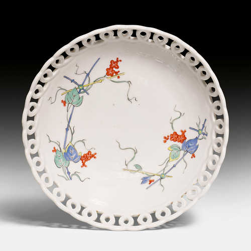 BOWL WITH OPENWORK AND RARE KAKIEMON DECORATION,