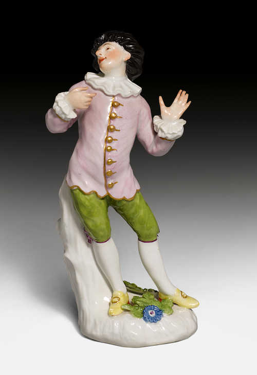 SCARAMOUCHE FROM A SERIES OF COMMEDIA DELL'ARTE FIGURES FOR THE DUKE OF WEISSENFELS,