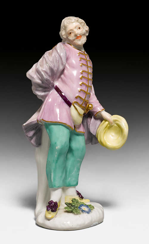 SCAPIN FROM A SERIES OF COMMEDIA DELL'ARTE FIGURES FOR THE DUKE OF WEISSENFELS,