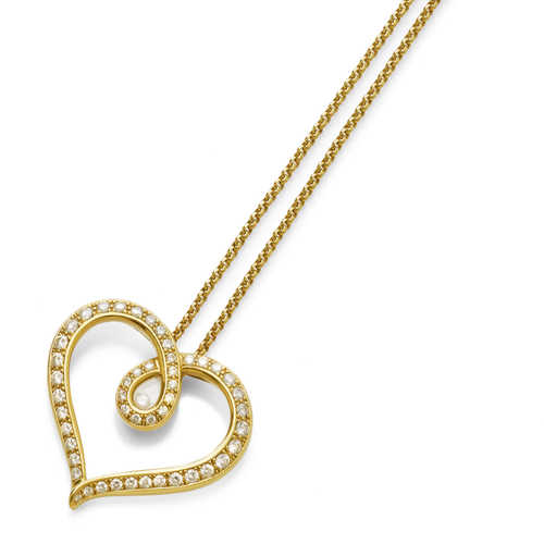 DIAMOND PENDANT WITH CHAIN, by CHOPARD.