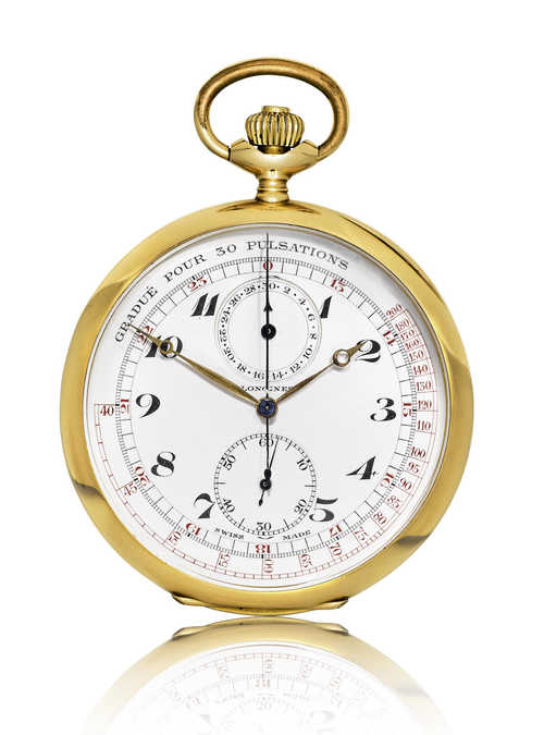Longines Pocket Watch Chronograph, ca. 1900.