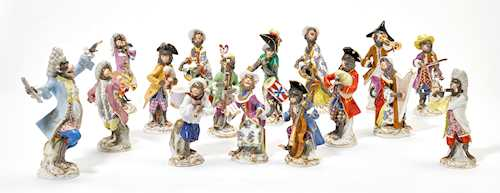 16 FIGURES FROM THE MONKEY ORCHESTRA,
