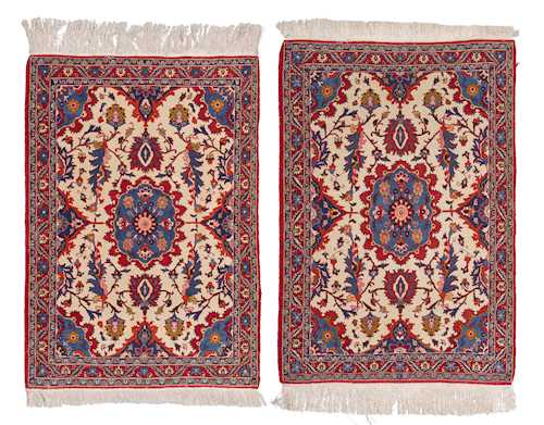 PAIR OF ISFAHANI CARPETS.