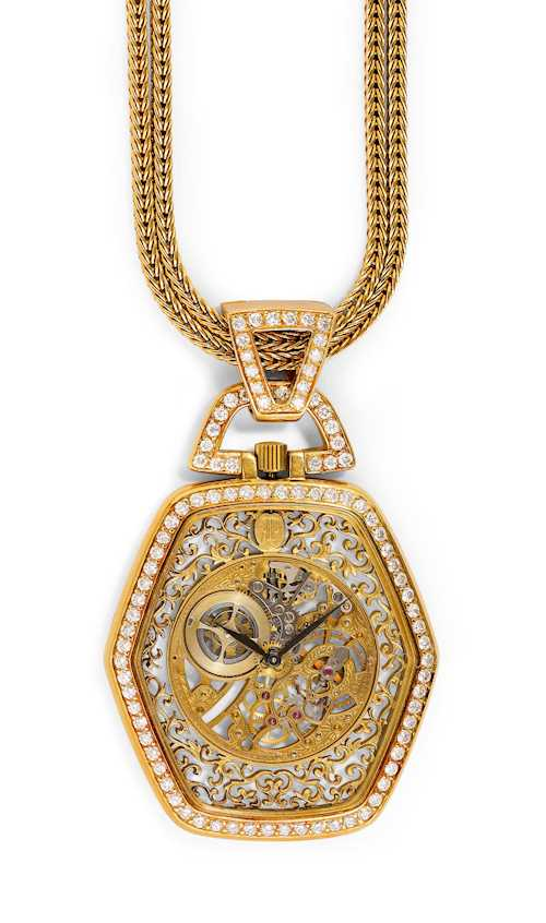 Audemars Piguet, very rare Pendant- or Dress Watch with chain.