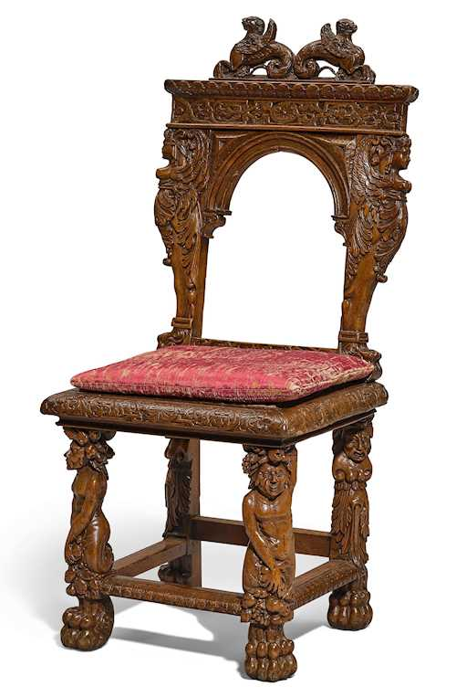 CARVED CHAIR,