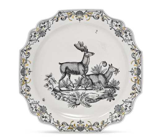 RARE BOWL FROM A HUNTING SERVICE