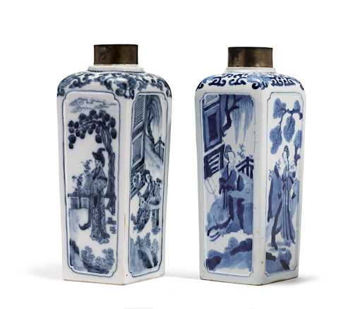 PORCELAIN TEA CADDY AND ITS CHINESE MODEL