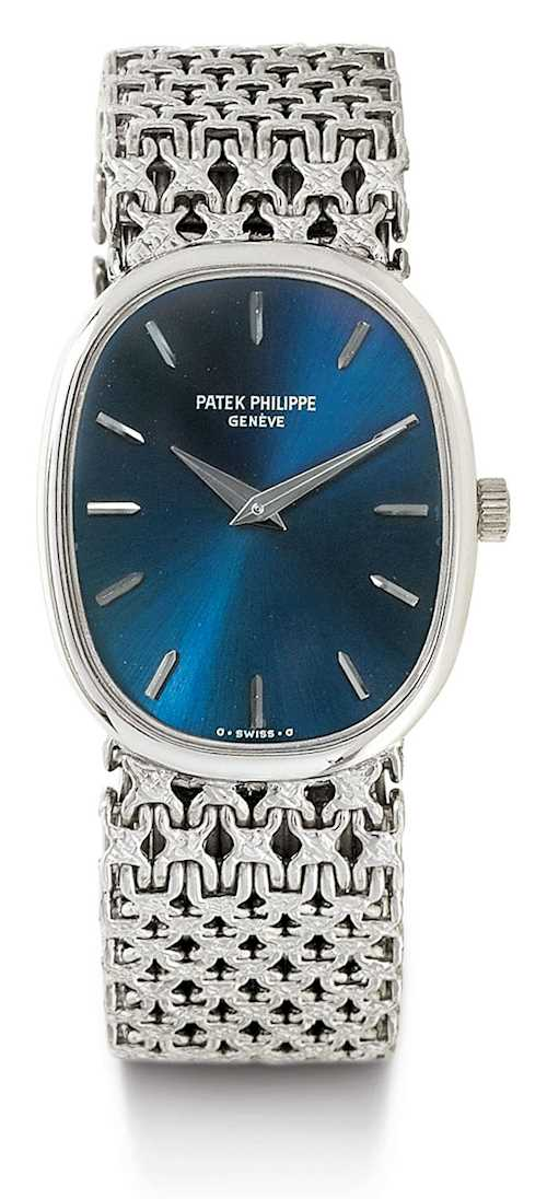 Patek Philippe, elegant Lady's watch, Ellipse, 1989.