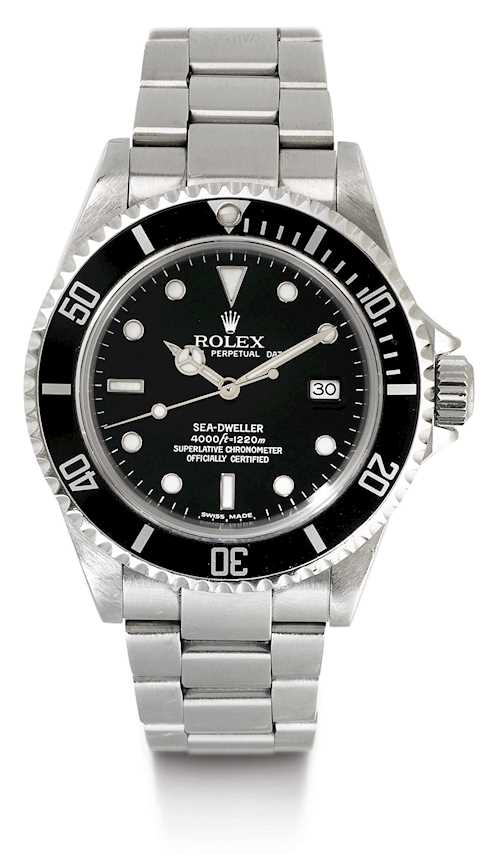 Rolex, highly sought-after Sea Dweller, 2004.