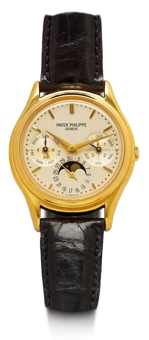 "Patek Philippe, very rare and attractive ""Perpetual Calendar"", 1992."