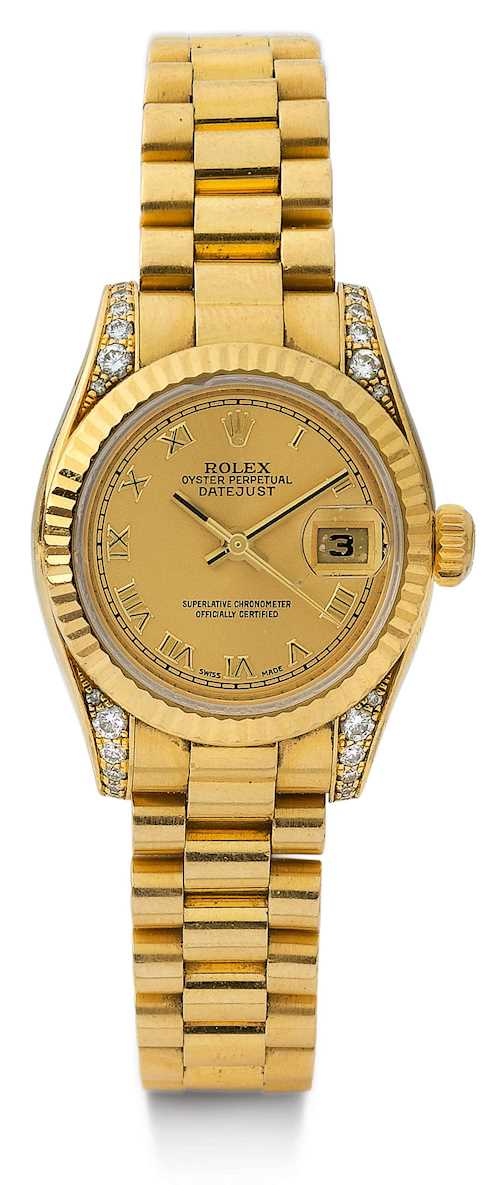 Rolex, attractive and rare diamond Datejust, 2008.