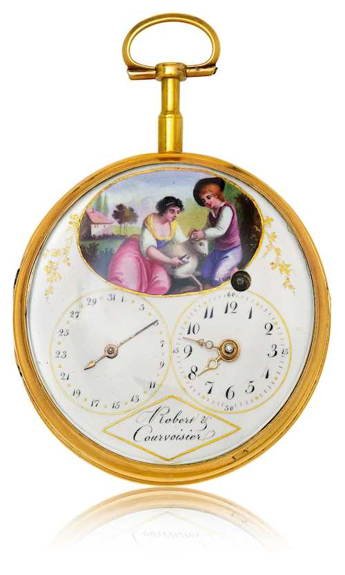 Pocket watch, Robert & Courvoisier, ca. 1780.