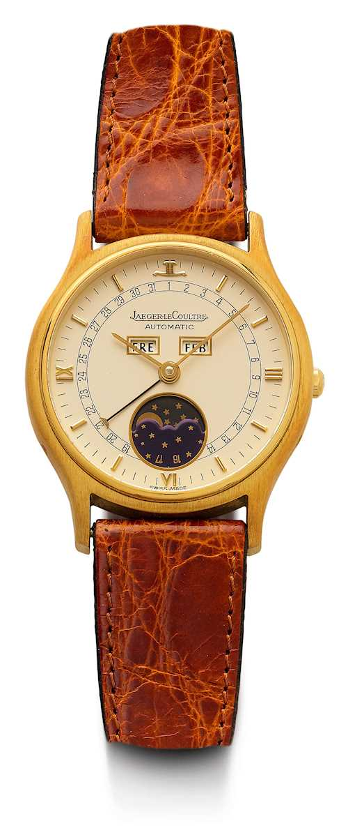 Jaeger le Coultre, attractive wristwatch with calendar.