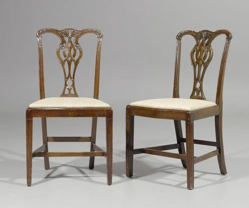 folge von 8 st hlen chippendale stil england um 1900 48x4. Black Bedroom Furniture Sets. Home Design Ideas