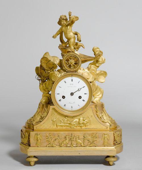 mantel clockrestoration paris ca 1820 the dial signed galle rue vivinenne a paris claude galle matre 1786 and thomas hger gilt bronze