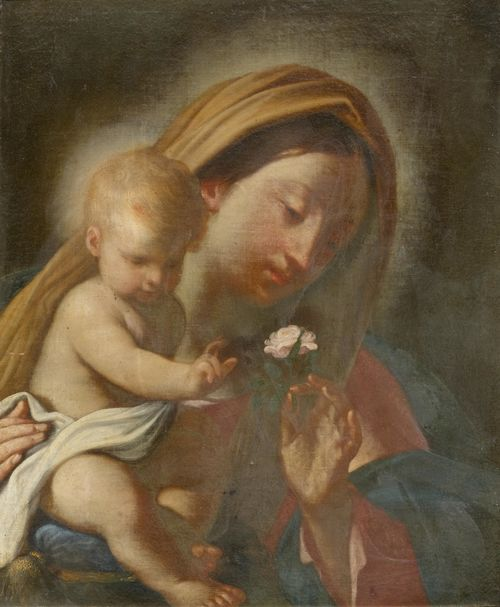 BOLOGNA, CIRCA 1650 Madonna and Child. Oil on canvas. 62 x 52 cm.
