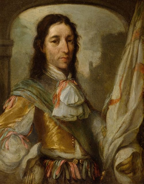 BISET, CHARLES EMMANUEL (Mechelen 1633 - 1691 Breda) Portrait of an officer. Oil on copper. 29 x 23.5 cm. Provenance: - Koller, Zurich, 27.11.-1.12.1984, Lot 5018. - Swiss private collection. Sabine Craft-Giepmans of RKD, The Hague, has confirmed the authenticity of this work on the basis of a photograph.