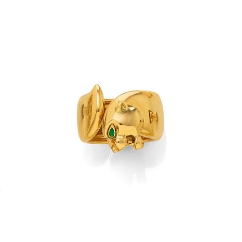 GOLD-SMARAGD-RING, CARTIER.