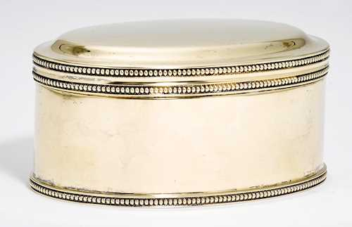 SILVER-GILT LIDDED BOX