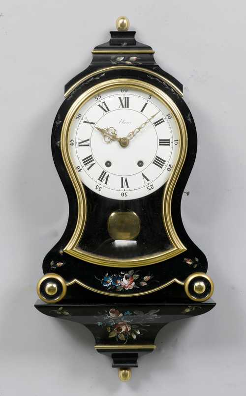 CLOCK ON PLINTH,