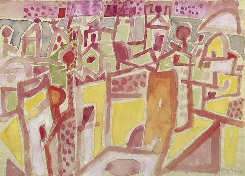 BARGHEER, EDUARD (1901 Hamburg 1979) Abstract composition. 1956. Watercolour on paper. Signed and dated lower right: Bargheer 56. 32 x 44 cm. Provenance: - Kunsthaus Bodan, Constance . - Private collection Switzerland.