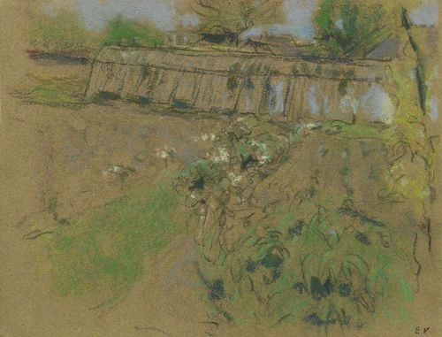 VUILLARD, EDOUARD (Cuiseaux 1868 - 1940 La Baule) Les serres. Pastel on brown paper. Monogram stamp lower right: EV. 25 x 32.3 cm. Provenance: - In possession of the artist. - Huguette Bérès. Paris. - Sotheby's London. 1. April 1981. Lot 185. - Waddington Galleries. London. - German private collection. Literature: Salomon. Antoine / Cogeval. Guy: Vuillard. Le Regard innombrable. Catalogue critique des peintures et pastels. Paris 2003.