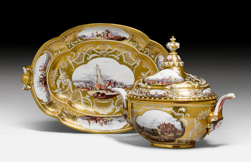 LARGE TUREEN WITH TRAY.