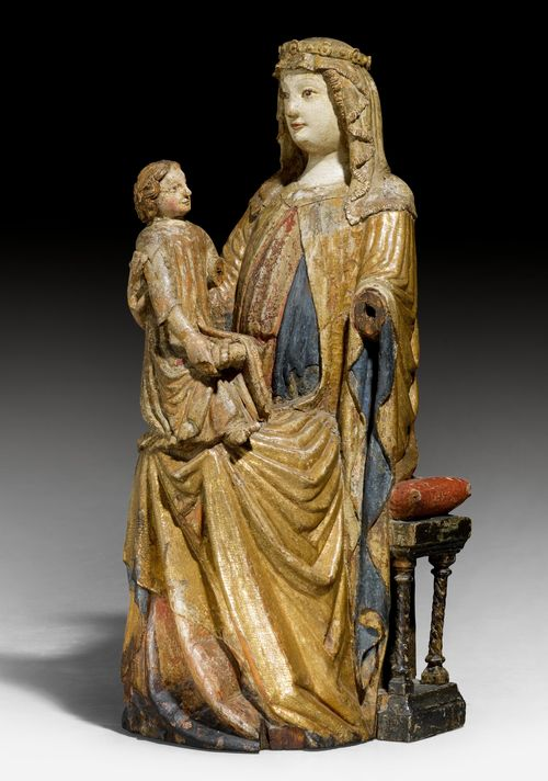 MARY AND CHILD SEATED ON A THRONE,
