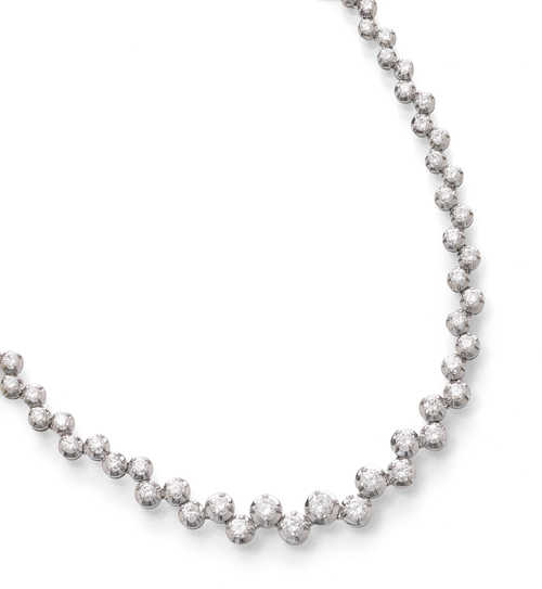 DIAMOND NECKLACE, ca. 1950.