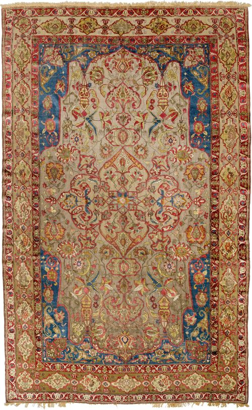 GHAJAR KASHAN SILK antique.
