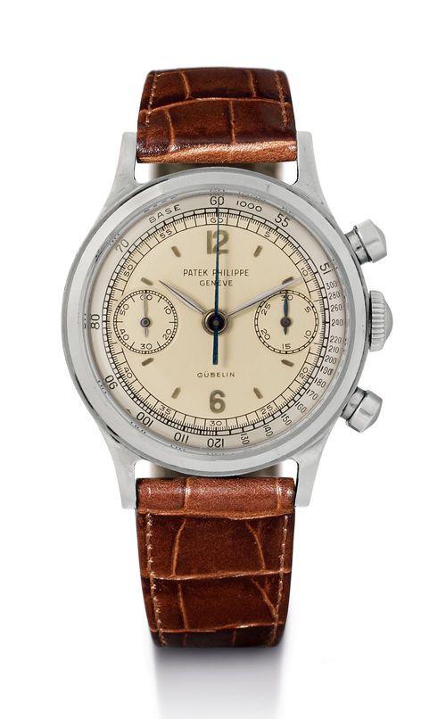 Patek Philippe, chronograph with two-tone dial, 1961.