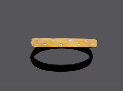 GOLD AND DIAMOND BANGLE, by TIFFANY & Co.
