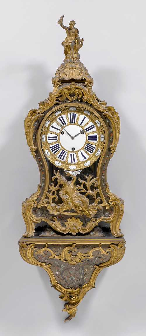 LARGE BOULLE CLOCK WITH BASE,