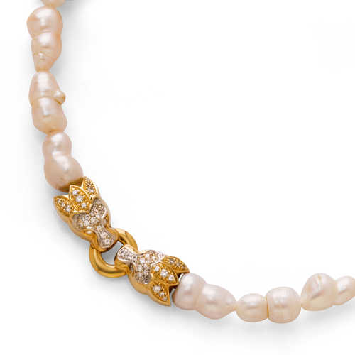 PEARL AND DIAMOND NECKLACE, by BUCHERER.