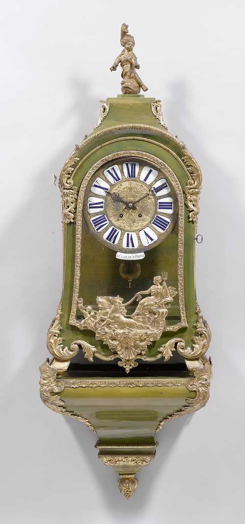 PAINTED CLOCK WITH BASE,