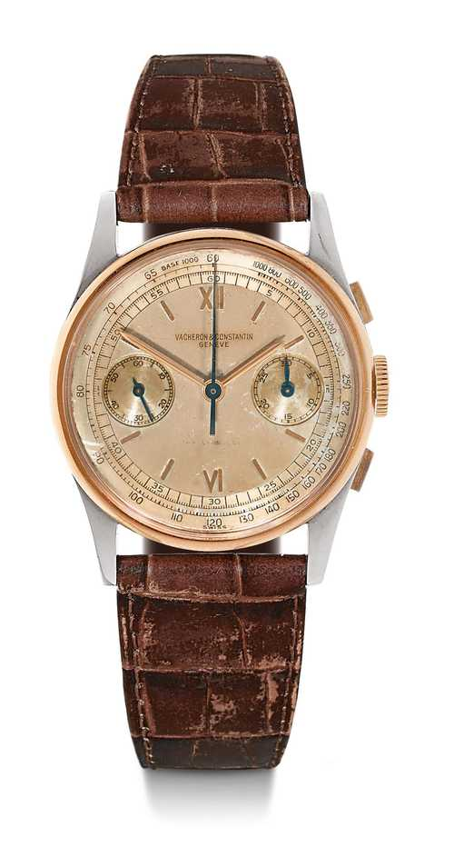 Vacheron & Constantin, rare chronograph with two-tone dial, 1943.