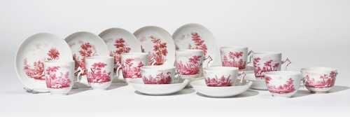 LOT OF CUPS AND SAUCERS 'A PAESI DI PORPORA',