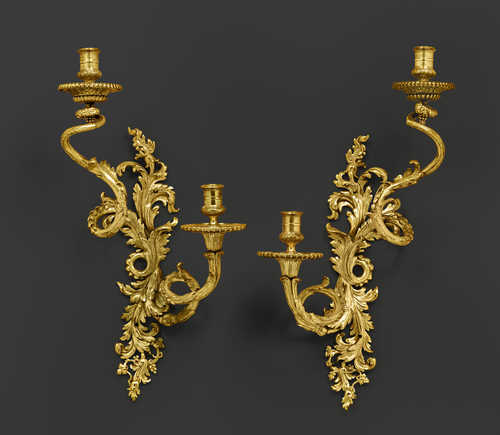 PAIR OF LARGE SCONCES,