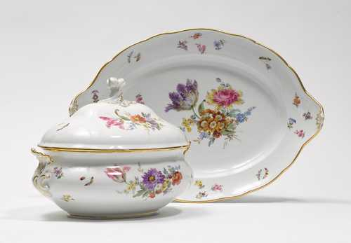 A SOUP TUREEN AND STAND,
