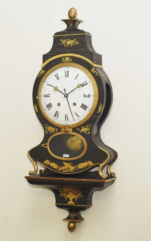 CLOCK WITH ALARM ON PLINTH,