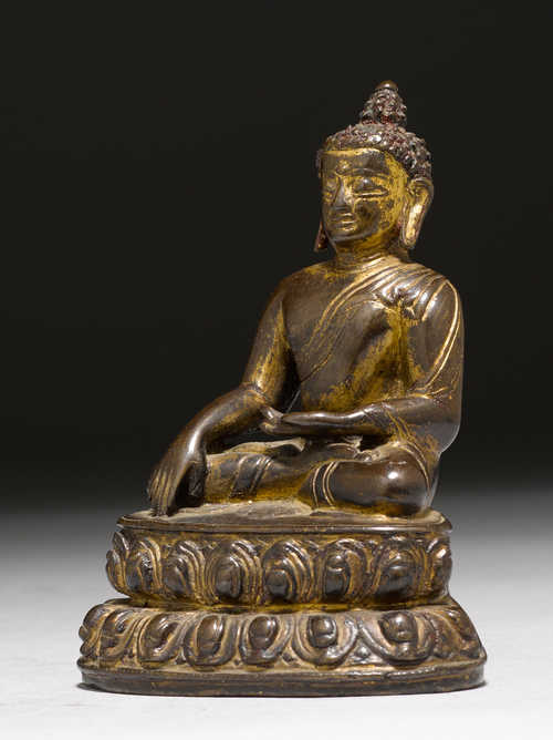 kleine figur des buddha shakyamuni tibet 14 jh h 11 cm. Black Bedroom Furniture Sets. Home Design Ideas